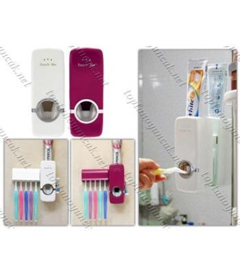 Toptan Otomatik Diş Macunu Sıkacağı ve 5 Adet Diş Fırçalığı