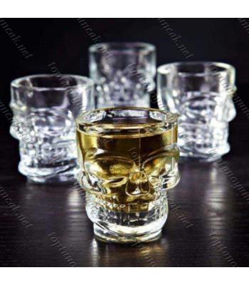 Toptan Kuru Kafa Şeklinde Shot Bardağı 4 Lü Set