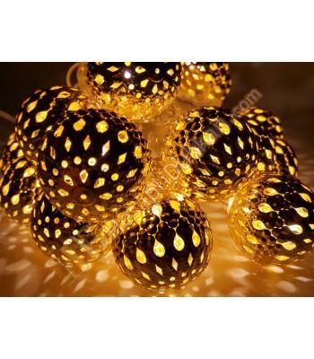 Yılbaşı ışıkları metal süs