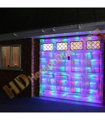 Ağ ışık flaman ışık 2 x 2 yılbaşı şeffaf kablo karışık renk fonksiyonel