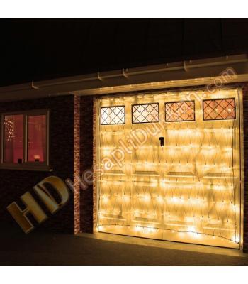 Ağ ışık flaman ışık 2 x 2 şeffaf kablo gün ışığı sarı fonksiyonel