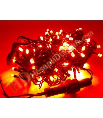 100 led eklenebilir kırmızı renk sabit yanar yeşil kablo yılbaşı ışık