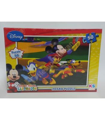 Toptan puzzle yapboz lisanslı 50 parça Mickey Mouse