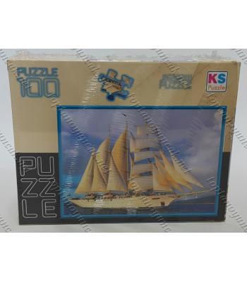 Toptan puzzle yapboz lisanslı 100 parça Yelkenli Gemi