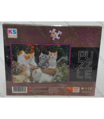 Toptan puzzle yapboz lisanslı 100 parça Altı Kedi