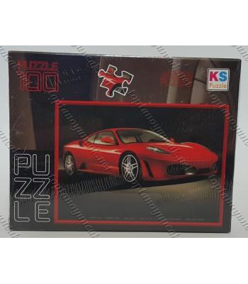 Toptan puzzle yapboz lisanslı 100 parça Kırmızı Araba