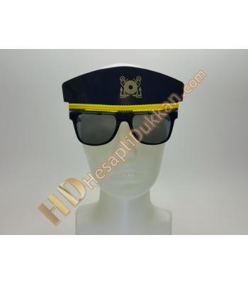 Polis şapkası figürlü parti gözlüğü