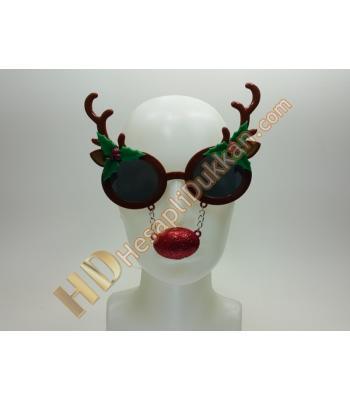 Boynuzlu geyik burunlu gözlük