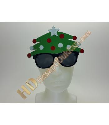 Noel yılbaşı ağacı gözlük