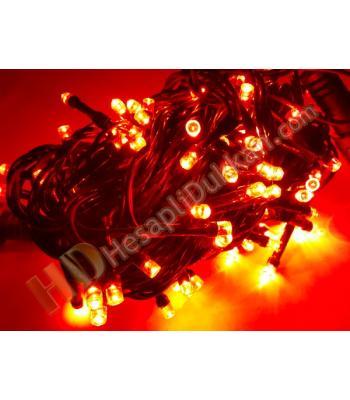 10 metre hareketli ışık 100 led yılbaşı ışıkları kırmızı