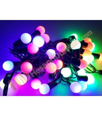 Top yılbaşı ışıkları karışık renk yanar