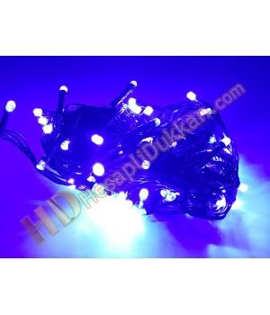 10 metre hareketli ışık 100 led yılbaşı ışıkları mavi