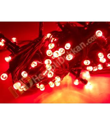 5 metre kırmızı pirinç fonksiyonel yılbaşı ışıkları