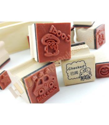 Ahşap oyuncak tampon baskı stamp