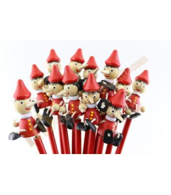 Pinokyo oyuncaklı kalem hediyelik ahşap promosyon
