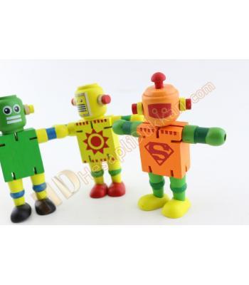 Ahşap hareketli robotlar promosyon oyuncak