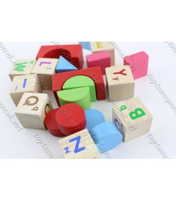 Toptan eğitici oyuncak ahşap harfli bloklar