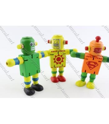 Ahşap hareketli robot promosyon toptan oyuncak