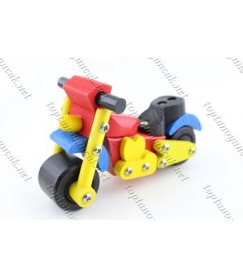 Promosyon eğitici oyuncak sök tak motosiklet ahşap