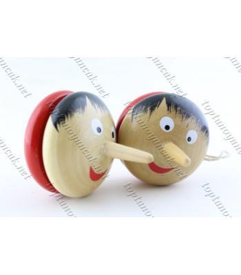Toptan eğitici ahşap oyuncak yoyo pinokyo