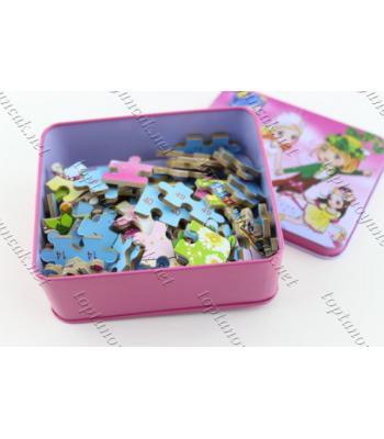 Promosyon oyuncak teneke kutuda puzzle yapboz