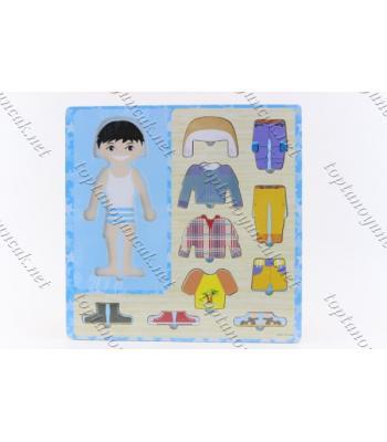 Promosyon eğitici oyuncak giydirmeli yapboz