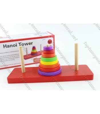 Promosyon eğitici ahşap oyuncak hanoi kuleleri