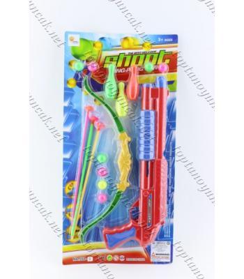 Oklu yaylı toptan atan tüfek oyuncak set