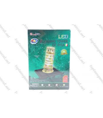 Pizza kulesi karton puzzle 15 parça led ışıklı