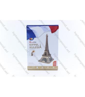 Eyfel kulesi karton puzzle 82 parça