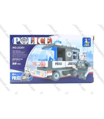 58 parça polis minibüsü lego oyuncak promosyon