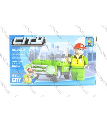 50 parça jeep kutulu lego toptan promosyon oyuncak