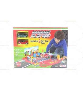 Araba garajı oyuncak iki metal arabalı