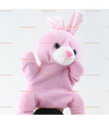 Toptan el kuklası pembe tavşan