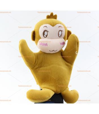 Toptan el kuklası kahverengi maymun