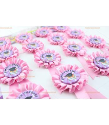 Toptan kokart rozet örnek öğrenci pembe renk