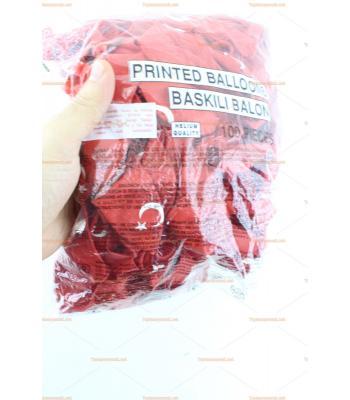 Toptan Türk bayraklı balon 100 lü paket