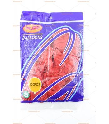 Toptan iç mekan balon kırmızı 100 lü paket