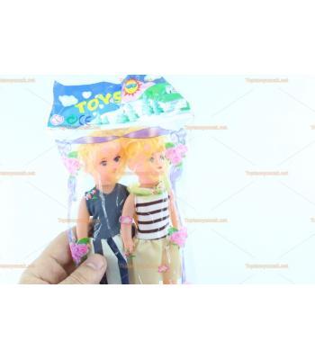 Toptan promosyon ucuz oyuncak bebek ikili poşet