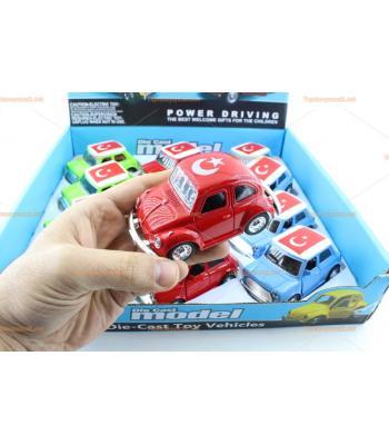 Toptan Türk bayraklı çek bırak arabalar