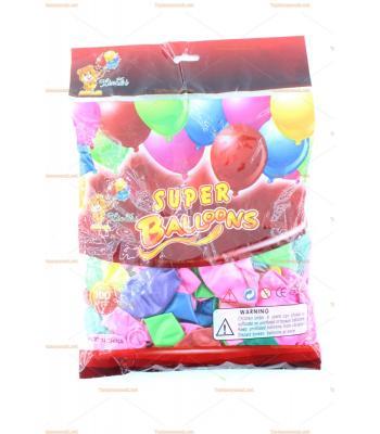 Toptan metalik balon karışık renk 100 lü