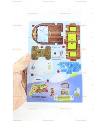 3D Karton puzzle banyo seti