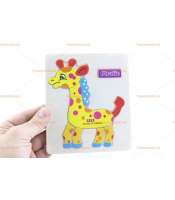 Toptan ahşap yapboz zürafa