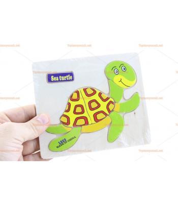 Toptan ahşap yapboz kaplumbağa