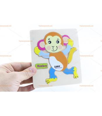 Toptan ahşap yapboz maymun