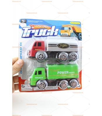 Toptan oyuncak kamyon ikili set