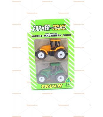 Toptan ikili traktör seti model araç