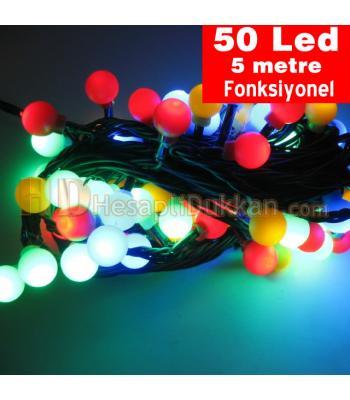 Yılbaşı ışıkları top ışık küçük karışık renk