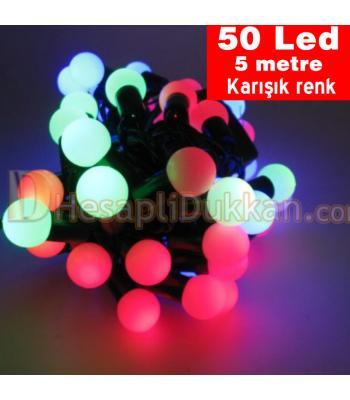 Yılbaşı ışıkları top ışık karışık renk