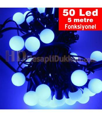 Yılbaşı ışıkları top ışık mavi